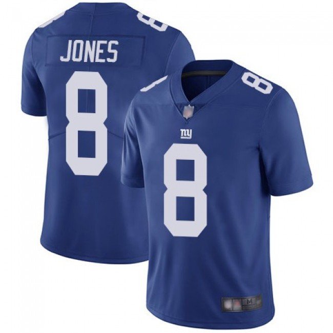 Nike Giants #8 Daniel Jones Royal Blue Team Color Men's Stitched NFL Vapor Untouchable Limited Jersey