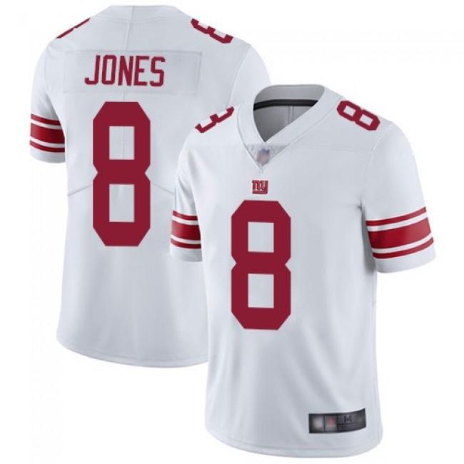Nike Giants #8 Daniel Jones White Men's Stitched NFL Vapor Untouchable Limited Jersey