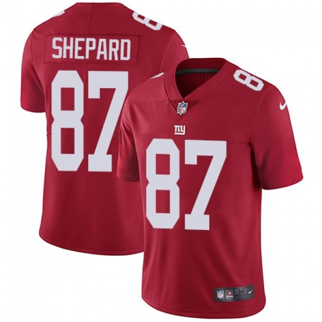 New York Giants #87 Sterling Shepard Red Alternate Youth Stitched NFL Vapor Untouchable Limited Jersey