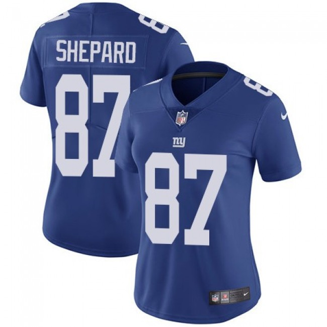 Women's Giants #87 Sterling Shepard Royal Blue Team Color Stitched NFL Vapor Untouchable Limited Jersey