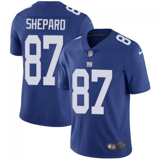 New York Giants #87 Sterling Shepard Royal Blue Team Color Youth Stitched NFL Vapor Untouchable Limited Jersey