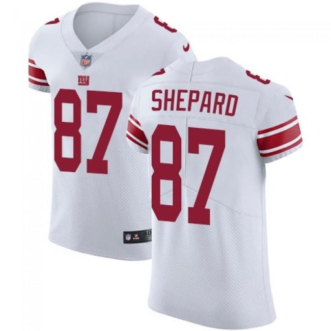 Nike Giants #87 Sterling Shepard White Men's Stitched NFL Vapor Untouchable Elite Jersey