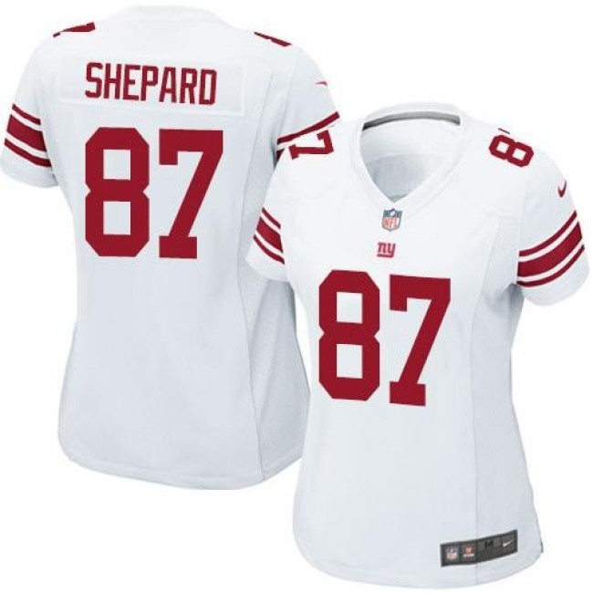 Women's Giants #87 Sterling Shepard White Stitched NFL Elite Jersey