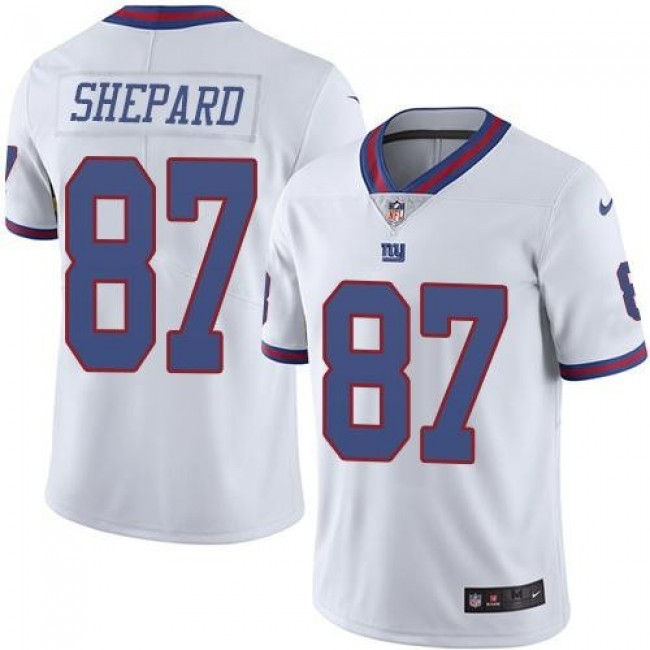 New York Giants #87 Sterling Shepard White Youth Stitched NFL Limited Rush Jersey