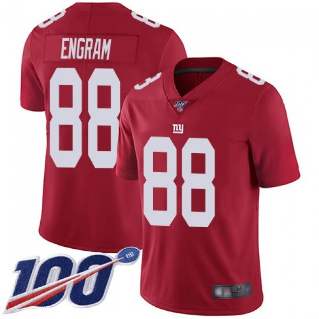 Nike Giants #88 Evan Engram Red Alternate Men's Stitched NFL 100th Season Vapor Limited Jersey