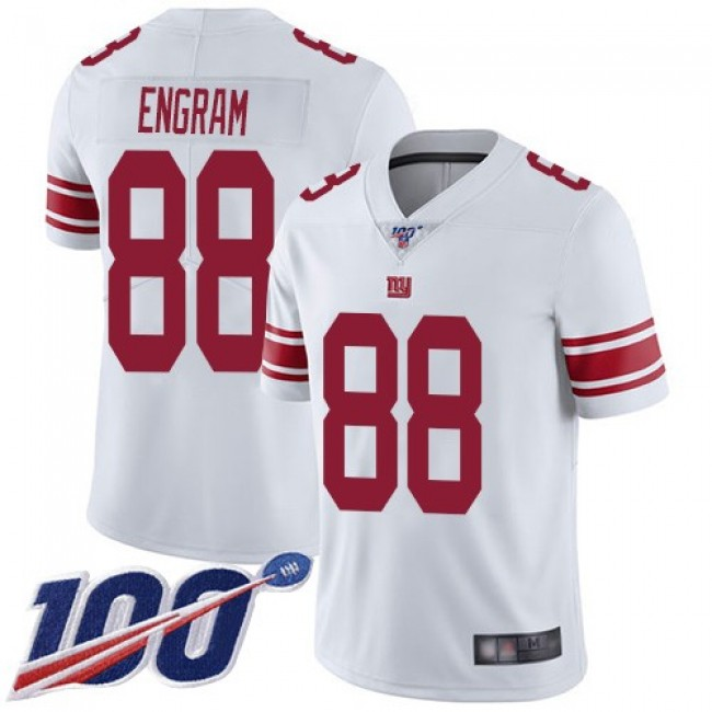 Nike Giants #88 Evan Engram White Men's Stitched NFL 100th Season Vapor Limited Jersey