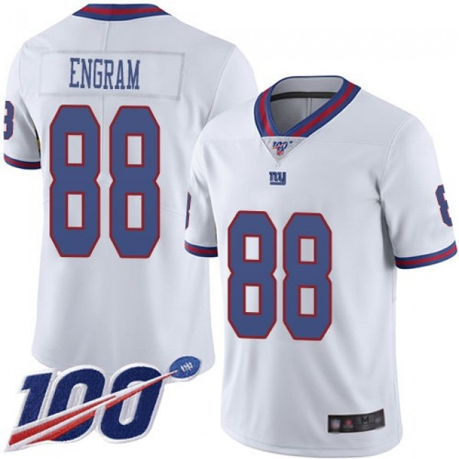 Nike Giants #88 Evan Engram White Men's Stitched NFL Limited Rush 100th Season Jersey