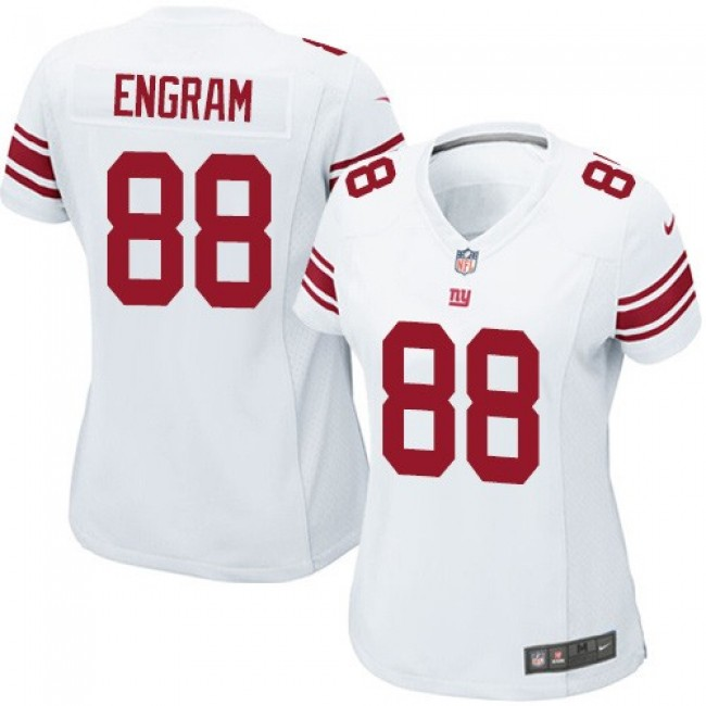 Women's Giants #88 Evan Engram White Stitched NFL Elite Jersey