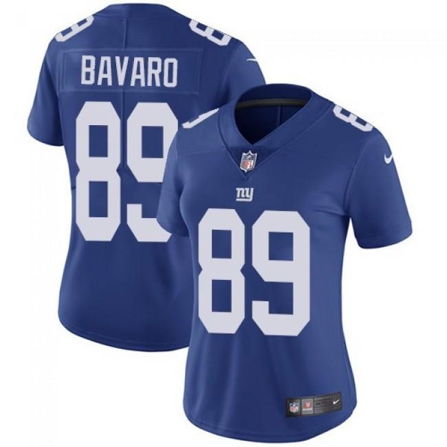 Women's Giants #89 Mark Bavaro Royal Blue Team Color Stitched NFL Vapor Untouchable Limited Jersey