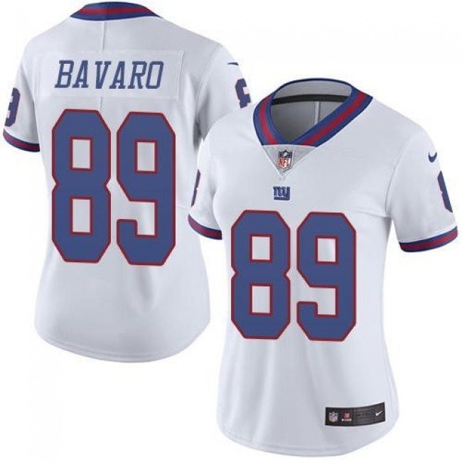 Women's Giants #89 Mark Bavaro White Stitched NFL Limited Rush Jersey