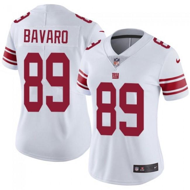 Women's Giants #89 Mark Bavaro White Stitched NFL Vapor Untouchable Limited Jersey