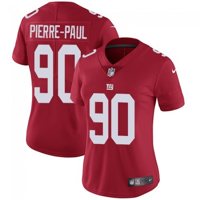Women's Giants #90 Jason Pierre-Paul Red Alternate Stitched NFL Vapor Untouchable Limited Jersey