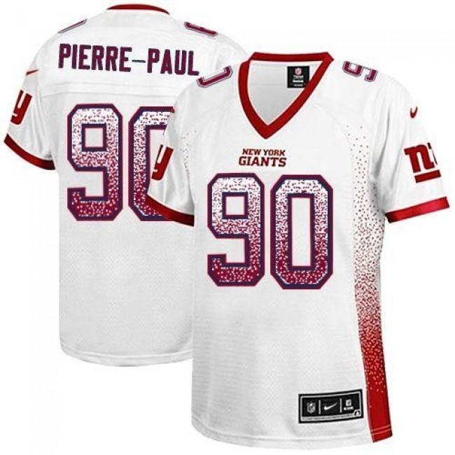 Women's Giants #90 Jason Pierre-Paul White Stitched NFL Elite Drift Jersey