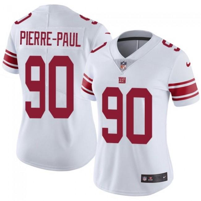 Women's Giants #90 Jason Pierre-Paul White Stitched NFL Vapor Untouchable Limited Jersey