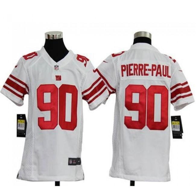 New York Giants #90 Jason Pierre-Paul White Youth Stitched NFL Elite Jersey