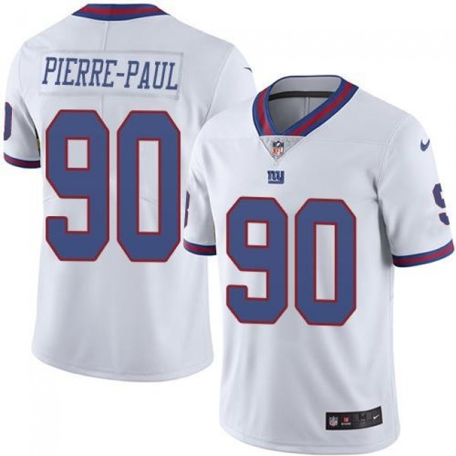 New York Giants #90 Jason Pierre-Paul White Youth Stitched NFL Limited Rush Jersey