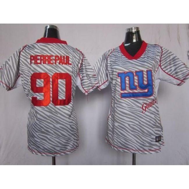 Women's Giants #90 Jason Pierre-Paul Zebra Stitched NFL Elite Jersey
