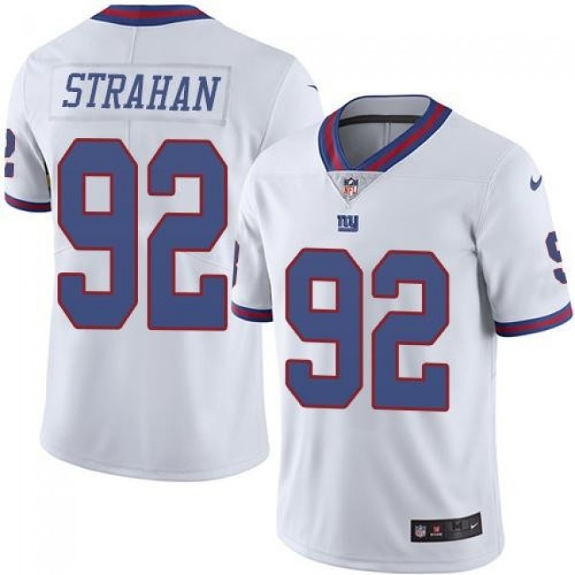 New York Giants #92 Michael Strahan White Youth Stitched NFL Limited Rush Jersey
