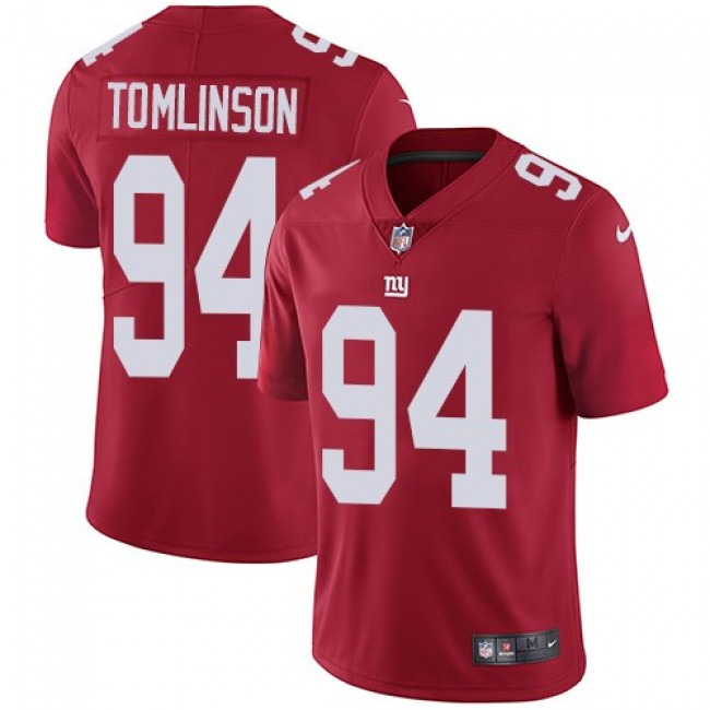 New York Giants #94 Dalvin Tomlinson Red Alternate Youth Stitched NFL Vapor Untouchable Limited Jersey