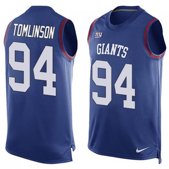 Nike Giants #94 Dalvin Tomlinson Royal Blue Team Color Men's Stitched NFL Limited Tank Top Jersey