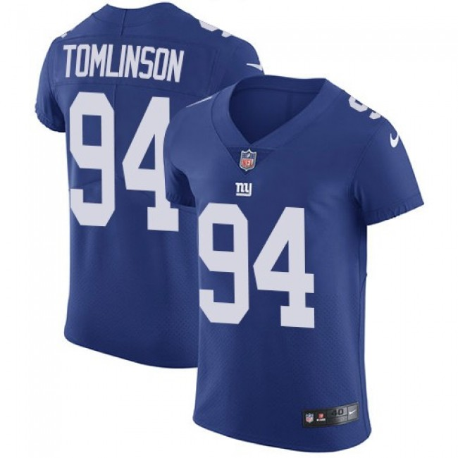 Nike Giants #94 Dalvin Tomlinson Royal Blue Team Color Men's Stitched NFL Vapor Untouchable Elite Jersey