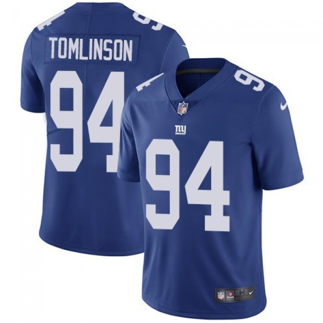 New York Giants #94 Dalvin Tomlinson Royal Blue Team Color Youth Stitched NFL Vapor Untouchable Limited Jersey
