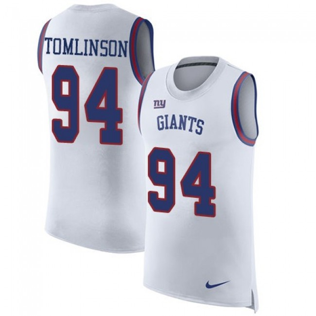 Nike Giants #94 Dalvin Tomlinson White Men's Stitched NFL Limited Rush Tank Top Jersey
