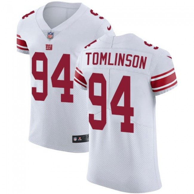 Nike Giants #94 Dalvin Tomlinson White Men's Stitched NFL Vapor Untouchable Elite Jersey