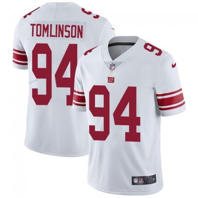Nike Giants #94 Dalvin Tomlinson White Men's Stitched NFL Vapor Untouchable Limited Jersey