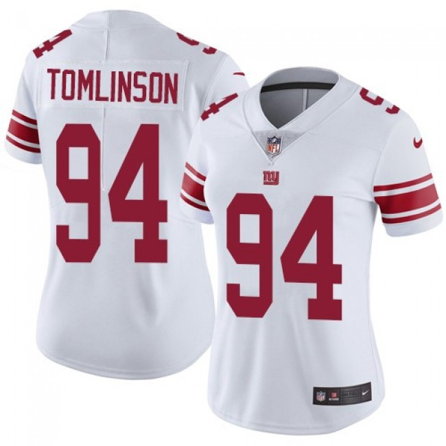 Women's Giants #94 Dalvin Tomlinson White Stitched NFL Vapor Untouchable Limited Jersey
