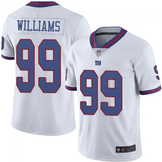 Nike Giants #99 Leonard Williams White Men's Stitched NFL Limited Rush Jersey