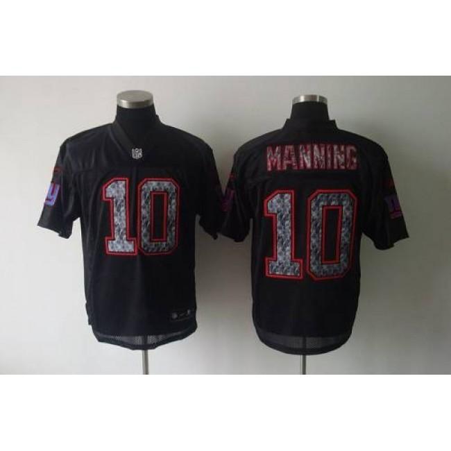 Sideline Black United Giants #10 Eli Manning Black Stitched NFL Jersey