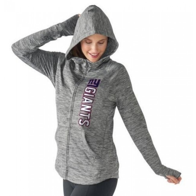 Women's NFL New York Giants G-III 4Her by Carl Banks Recovery Full-Zip Hoodie Heathered Gray Jersey