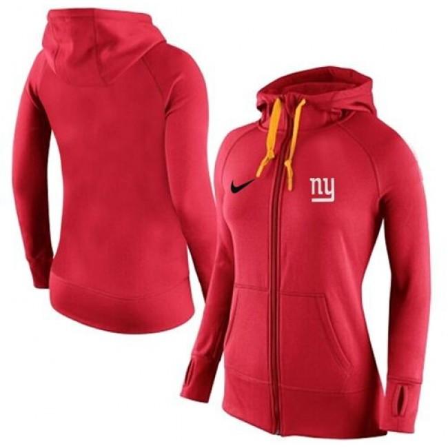 Women's New York Giants Full-Zip Hoodie Red Jersey
