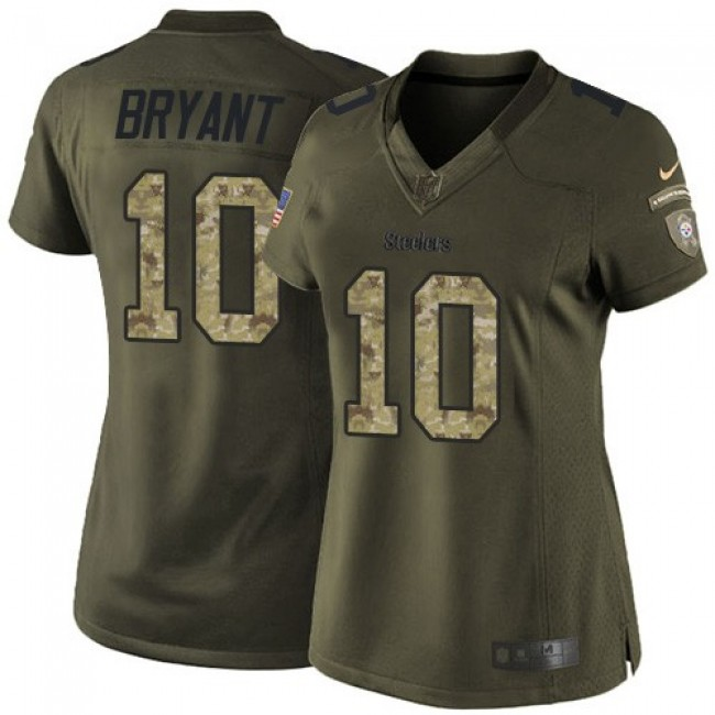 Women's Steelers #10 Martavis Bryant Green Stitched NFL Limited 2015 Salute to Service Jersey