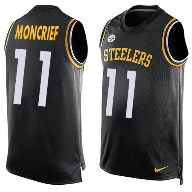 Nike Steelers #11 Donte Moncrief Black Team Color Men's Stitched NFL Limited Tank Top Jersey