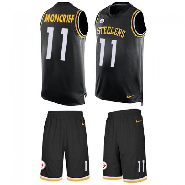 Nike Steelers #11 Donte Moncrief Black Team Color Men's Stitched NFL Limited Tank Top Suit Jersey