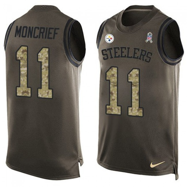 Nike Steelers #11 Donte Moncrief Green Men's Stitched NFL Limited Salute To Service Tank Top Jersey