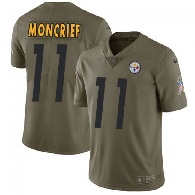Nike Steelers #11 Donte Moncrief Olive Men's Stitched NFL Limited 2017 Salute to Service Jersey