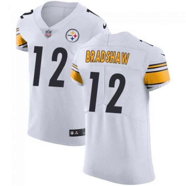 Nike Steelers #12 Terry Bradshaw White Men's Stitched NFL Vapor Untouchable Elite Jersey