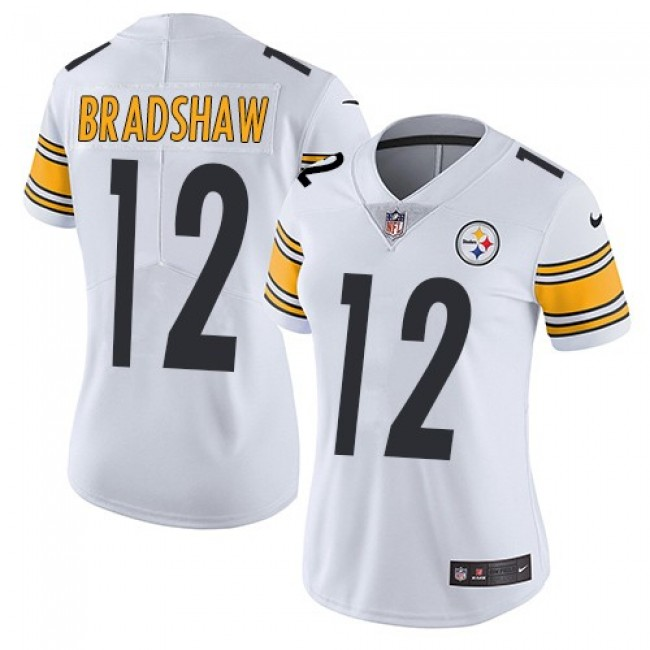 Women's Steelers #12 Terry Bradshaw White Stitched NFL Vapor Untouchable Limited Jersey