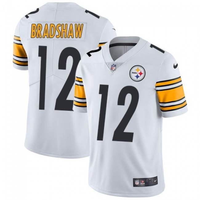 Pittsburgh Steelers #12 Terry Bradshaw White Youth Stitched NFL Vapor Untouchable Limited Jersey