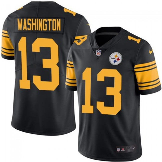 Nike Steelers #13 James Washington Black Men's Stitched NFL Limited Rush Jersey