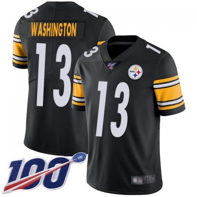 Nike Steelers #13 James Washington Black Team Color Men's Stitched NFL 100th Season Vapor Limited Jersey
