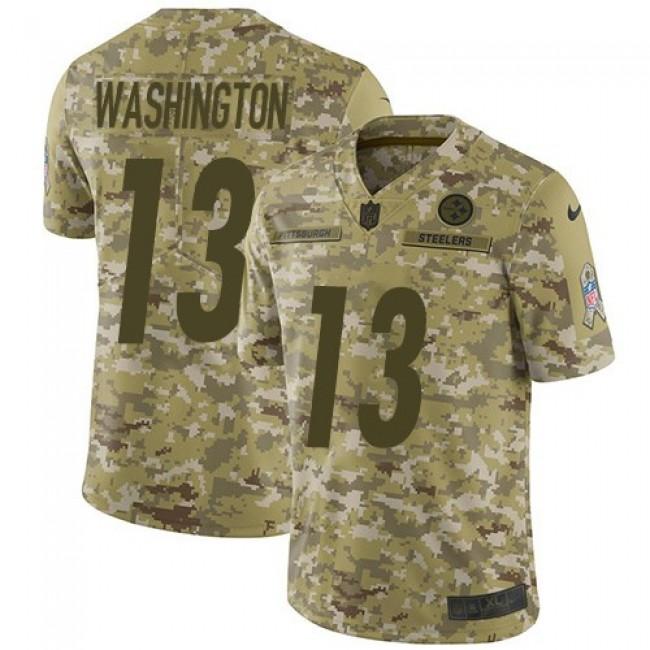Nike Steelers #13 James Washington Camo Men's Stitched NFL Limited 2018 Salute To Service Jersey