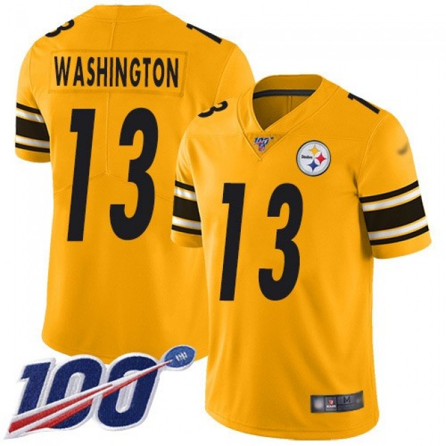 Nike Steelers #13 James Washington Gold Men's Stitched NFL Limited Inverted Legend 100th Season Jersey
