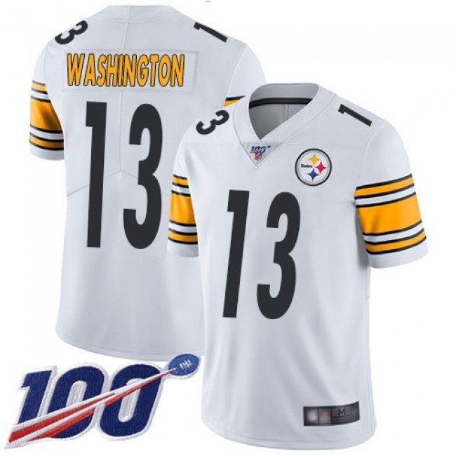 Nike Steelers #13 James Washington White Men's Stitched NFL 100th Season Vapor Limited Jersey