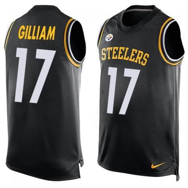 Nike Steelers #17 Joe Gilliam Black Team Color Men's Stitched NFL Limited Tank Top Jersey