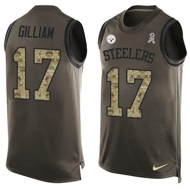 Nike Steelers #17 Joe Gilliam Green Men's Stitched NFL Limited Salute To Service Tank Top Jersey
