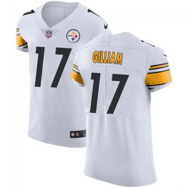 Nike Steelers #17 Joe Gilliam White Men's Stitched NFL Vapor Untouchable Elite Jersey